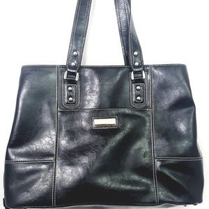 Franklin Covey Solid Black Laptop Tote Bag